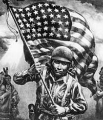 Code talkers were people who used obscure languages as a means of secret communication during wartime.